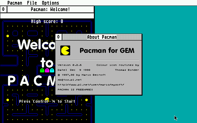 Pacman for GEM